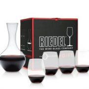 סט כוסות Riedel + דקנטר